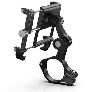 Image 2 - MTB Bicycle Motorcycle Phone Holder For iPhone X XS 11Pro support telephone moto aluminium Holder For GPS Bike Handlebar Holder
