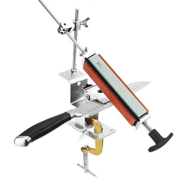 2020 железная точилка для стальных ножей, профессиональная точилка для ножей с фиксированным углом, с 4 камнями, система точильных камней, точильный инструмент