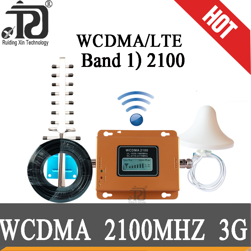 75dB Gain 3g 2100 Repeater Cell Phone Signal Repeater Mobile 2100MHz Signal Booster 3G (HSPA) WCDMA 2100MHz 3G UMTS Amplifier