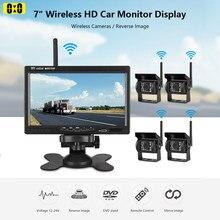 Telecamera Wireless per retrovisione per Monitor da 7 pollici per auto per camion retromarcia Bus RV Van Truck Night Vision Backup Lens 1X 2X 4X Camera
