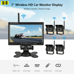 7 Inch Car Monitor Rear View Wireless Camera for Reverse Truck Bus RV Van LORRY Night Vision Backup Lens 1X 2X 4X Camera