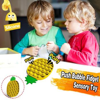 1-4PC Push Pop Bubble zabawka sensoryczna ananas Push Bubble Fidget zabawka sensoryczna autyzm specjalne potrzeby stres Reliever dzieci zabawka sensoryczna tanie i dobre opinie CN (pochodzenie) Stress Reliever Toy Chiny certyfikat (3C) 8 ~ 13 Lat 14 lat i więcej 2-4 lat 5-7 lat Dorośli Zwierzęta i Natura