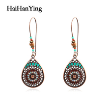 Fashion Vintage Boho India Ethnic Water Drip Hanging Dangle Drop Earrings for Women Female Wedding Party Jewelry Accessories vintage boho india ethnic water drip hanging dangle drop earrings for women female 2018 new wedding party jewelry accessories