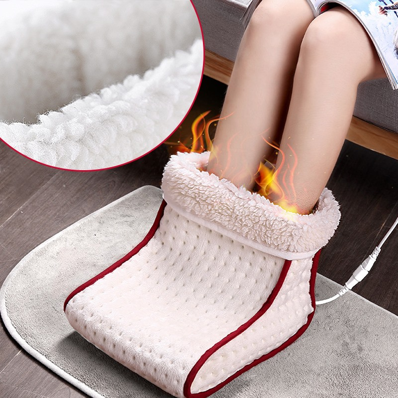 Winter Foot Warmer Heated Electric Washable Heats Control Settings Warmer Cushion Thermal Foot Warmer Massage Gift