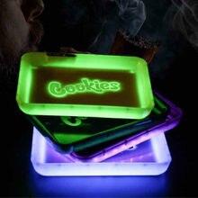 Tragbare Musik & hände Control Glow Tablett Platz Aufladen LED Tabak Roll Tablett mit Box Rauchen Zubehör Geschenk für Freund