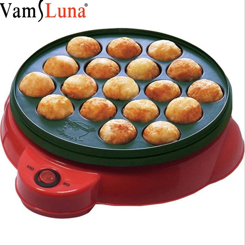 18 Holes <font><b>Electric</b></font> Takoyaki <font><b>Pan</b></font> Takoyaki Maker Aluminum Alloy Octopus Balls Grill Chibi Maruko machine <font><b>Baking</b></font> Forms Mold <font><b>Pan</b></font> Cook image