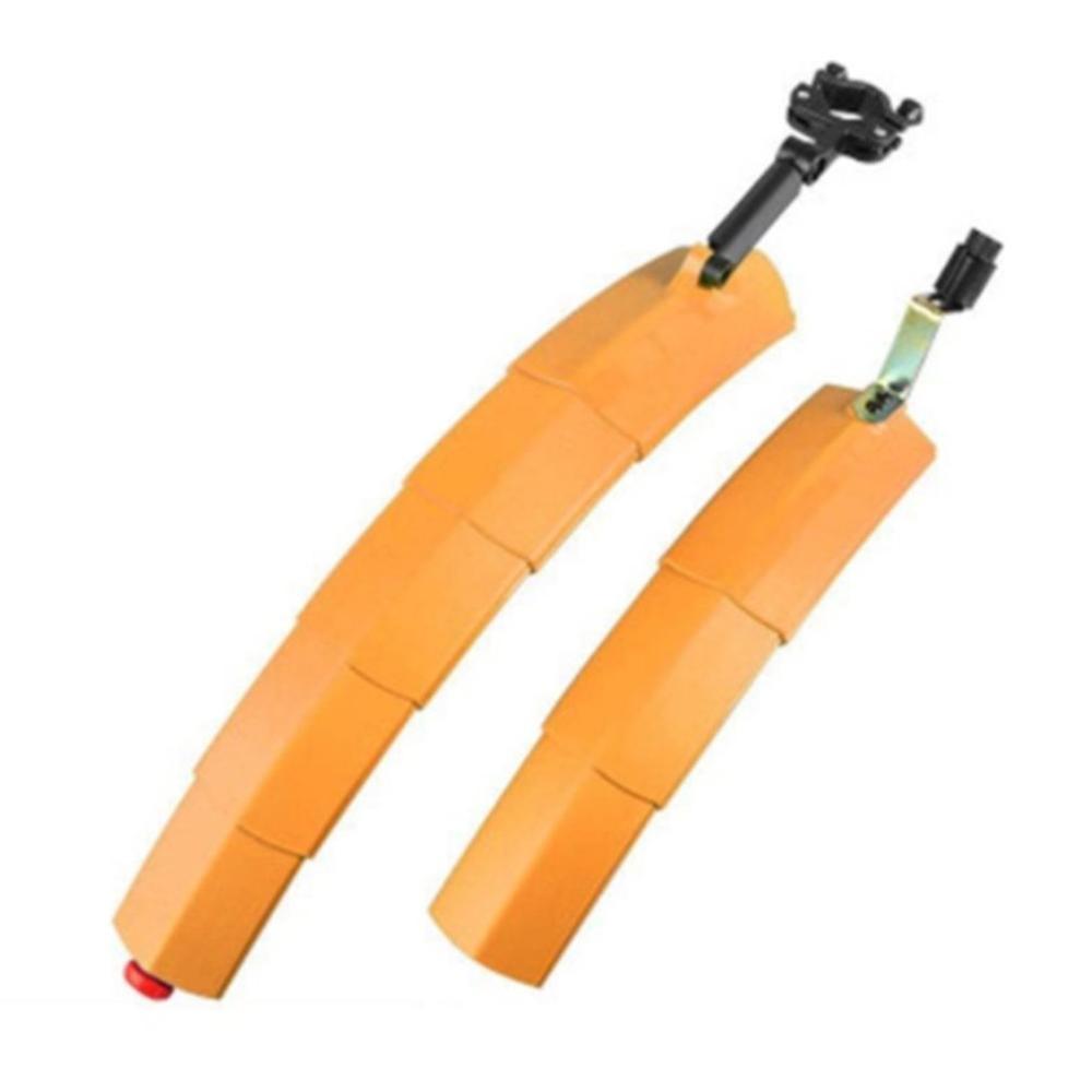 Крыло для горного велосипеда, быстросъемный светодиодный задний светильник, складной мигающий выдвижной светильник, Аксессуары для велосипеда - Цвет: Оранжевый