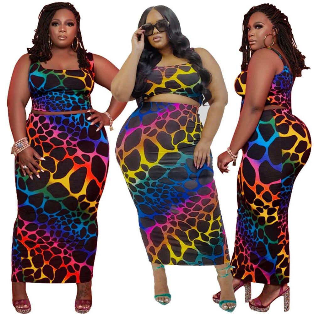 Plus Size Women Clothing Two Piece Set  1