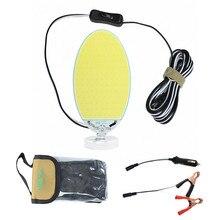 Портативное освещение 12 В recargable светодиодный тент для кемпинга, освещение для бездорожья, прожекторы, прожекторы, магнитное основание, домашняя аварийная лампа COB