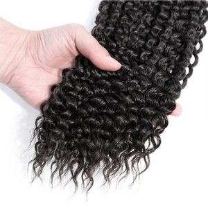 Image 4 - Bling Hair brazylijski perwersyjne kręcone wiązki z zamknięciem 13X4 koronkowe przednie 100% Remy wiązki ludzkich włosów z przednim naturalnym kolorem