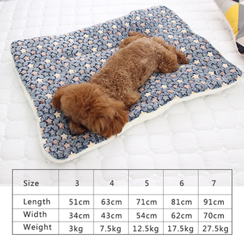 Thickened Pet Soft Fleece Pad Blanket Washable Bed Mat For Puppy Dog Cat Sofa Cushion Home Rug Keep Warm S - XXXL 5