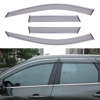 Auto Parts For Volvo XC60 2018 2019 ABS Plastic Window Visor Vent Shade Rain Sun Wind Guard Deflectors Awnings Shelters Cover