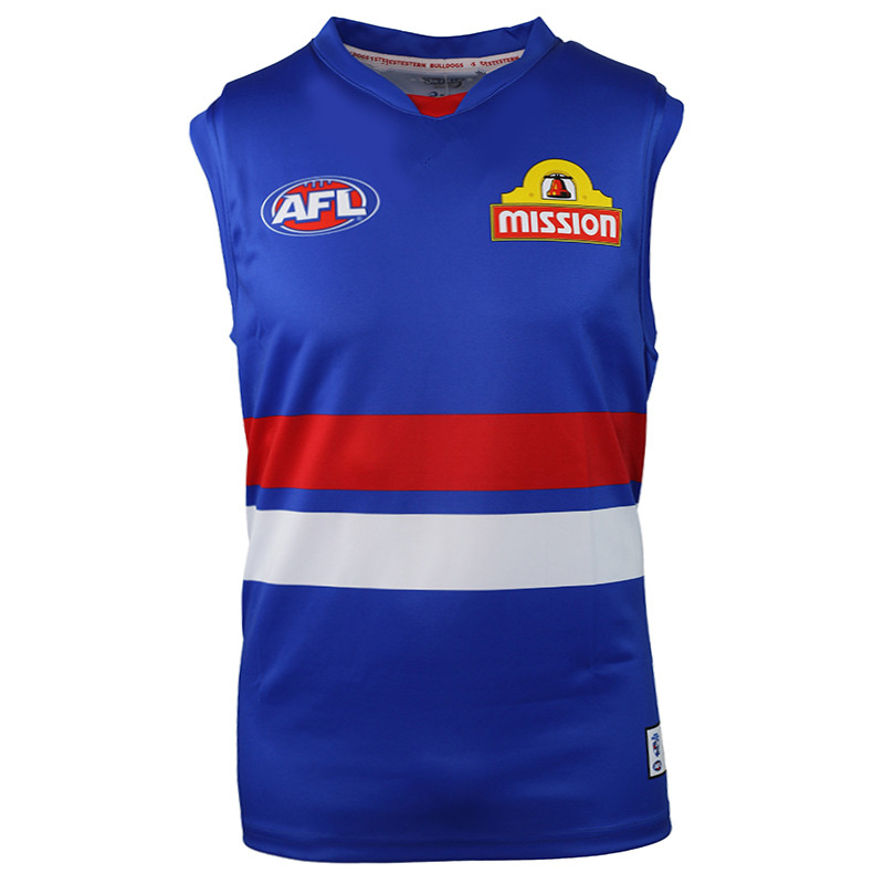 AFL PERSONALISED WESTERN BULLDOGS 2019 MEN'S HOME JERSEY size S-3XL Print custom names and numbers Top quality Free shipping(China)
