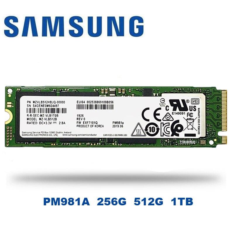 SAMSUNG SSD M.2 PM981A 256 ГБ 512 ГБ Внутренние твердотельные накопители M2 NVMe PCIe 3,0x4 NVMe 1,3 ноутбук Настольный 1 ТБ SSD