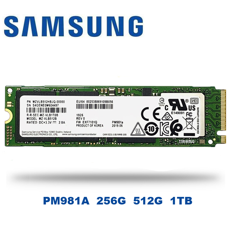 SAMSUNG SSD M.2 PM981A 256GB 512GB Internal Solid State Drives  M2 NVMe PCIe 3.0 x4 NVMe 1.3 Laptop Desktop 1tb  SSD|Internal Solid State Drives|   - AliExpress