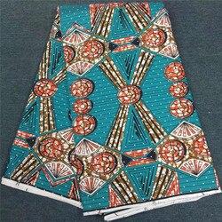 Gorąca sprzedaż ukamienowany Ankara wosk Africain Tissus Ankara nigerii wosk drukuje tkaniny afryki Batik druk woskowy materiał dla kobiet sukienka