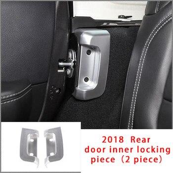 Для Jeep Wrangler 18-20 хромированная задняя дверь внутренняя запирающая деталь формовочная отделка 2 шт