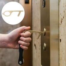 Портативный гигиенический ручной латунный Открыватель для двери