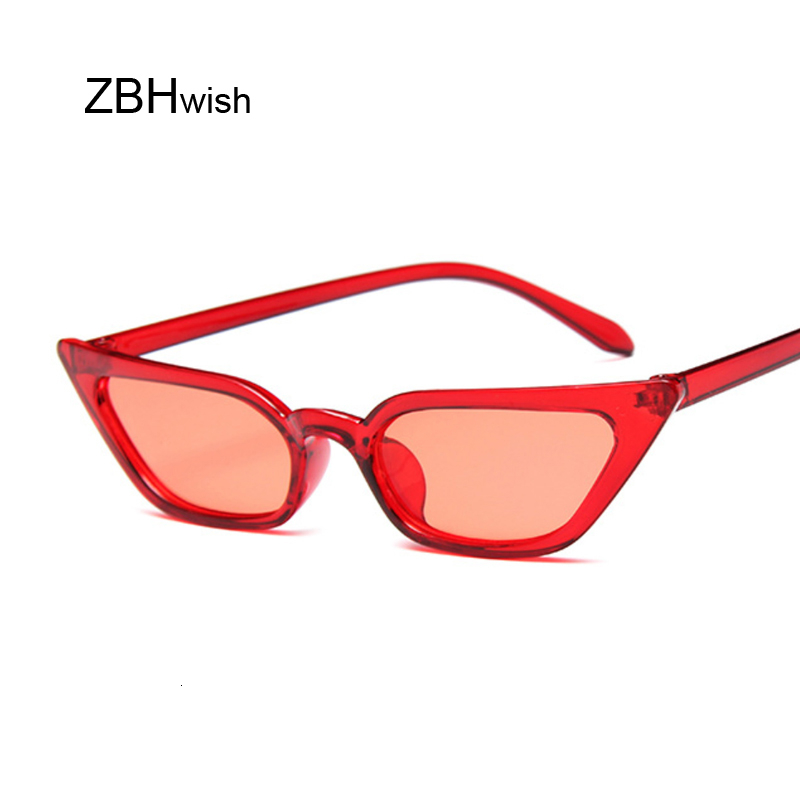 Fashion Cat Eye Sunglasses Women Luxury Brand Designer Trendy Narrow Triangular Glasses Small Vintage Sun Glasses Ladies