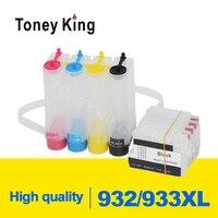 Toney Kral 932 XL 933 XL Için CISS Mürekkep BESLEME Sistemi HP Officejet 6100 6600 6700 7110 7610 7612 Yazıcı