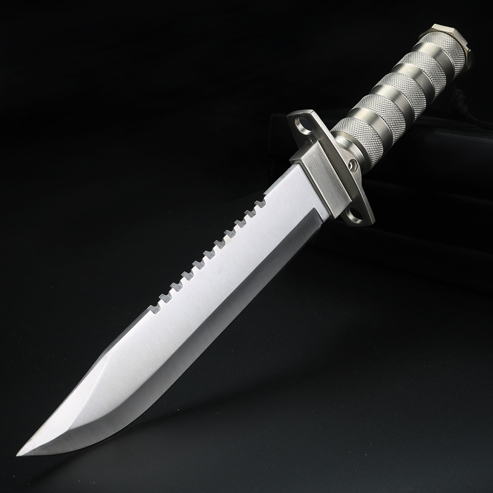 Outdoor Survival Knife Camping Hunting Knife Japanese Mirror Fixed Blade Knives Stainless Steel Handle Jungle Adventure Tool