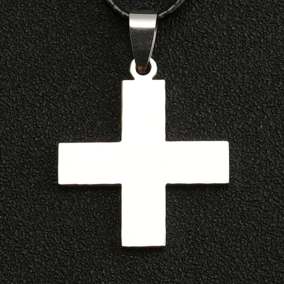 Цельный ожерелье Dracule Mihawk EVA Katsuragi Misato с крестом Иисуса серебряный цвет кулон из нержавеющей стали ювелирные изделия для мужчин оптовая прод...