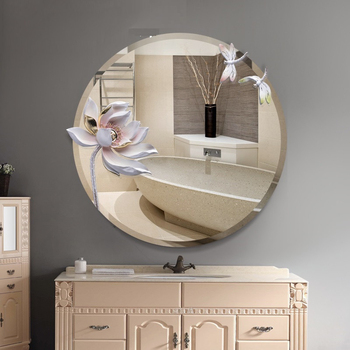 Modern Orchid decorated Mirror  2