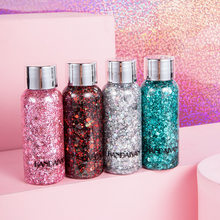 Oogschaduw Glitter Gel Crème Nail Haar Body Gezicht Glitter Gel Art Flash Hart Losse Pailletten Crème Festival Party Decoratie TSLM1(China)