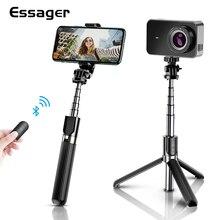 Essager 3 in 1 Wireless Bluetooth Flexible Selfie Stick Tripod For iPhone Xiaomi Phone Portable Self Selfiestick Tripod Monopod