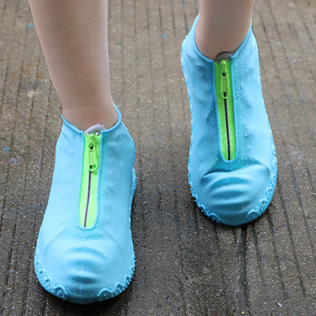 2020 חדש הגעה רוכסן עמיד למים מכסה נעלי Rainday שלג החלקה גומי נעלי גשם מכסה Platic כיסוי נעליים