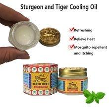 100% original tailândia analgésico pomada bálsamo tigre branco pomada alívio da dor muscular pomada acalmar coceira