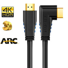 Ad Angolo retto cavo HDMI 2.0 AD ARCO HDMI 90 gradi cavo HDMI 4K 60Hz HDR HDCP 2.2 Ad Angolo di HDMI cavo adattatore del connettore