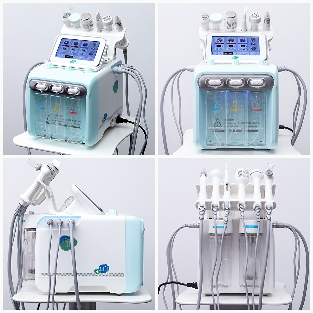 Hydra Dermabrasion Skin Care Beauty Machine Water Oxygen Diamond Dermabrasion Facial Cleaning 6 In 1 Water Aqua Peeling Device