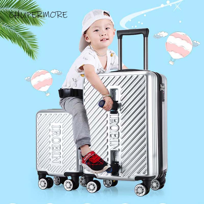 Chupermore Detachable Children Rolling Luggage Set Spinner Multifunction Ride Kids Trolley Girl Boys Suitcase Wheels