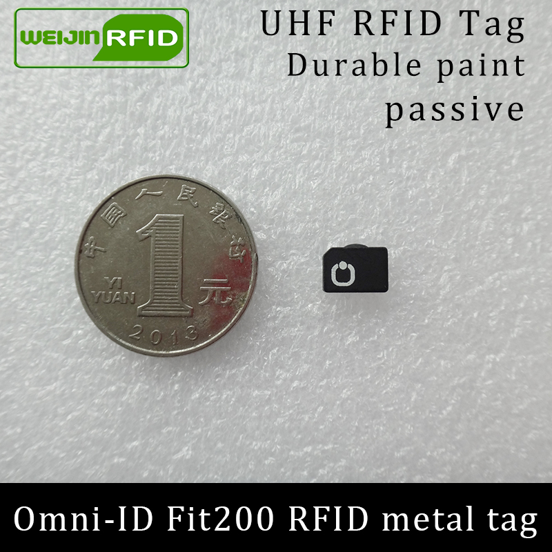 UHF RFID Anti-metal Tag Omni-ID Fit200 Fit 200 915mhz 868mhz Alien Higgs3 EPCC1G2 6C Durable Paint Smart Card Passive RFID Tags