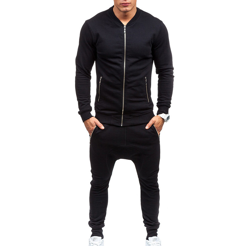 Men's Sets 2018 Men Sportswear Set New Autumn Suit Stand Collar Clothes Tracksuits Male Sweatshirts & Coats Track Suits