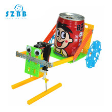 Sz Steam DIY Technology Gadgets Pulling Robot Construction Sets Kids Science Experiment Education Fun Physics Toy Learning Kits(China)