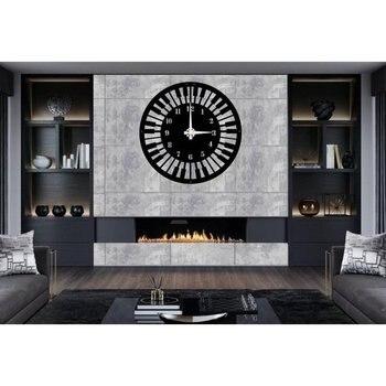 Metal Wall Clock, Music Clock, Metal Wall Art, Metal Wall Decor, Music Wall Art, Piano Art, Music Gift, Musician Pianist Sign, L фото