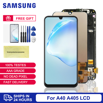 Amoled For Samsung Galaxy A40 LCD Display Replacement Frame For Samsung A40 Touch Screen Digitizer Assembly For Samsung A40 A405