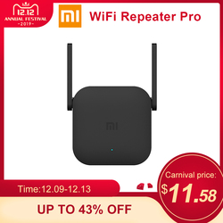 Xiaomi Amplificador WiFi Pro 300Mbps Amplificador Wi-Fi repetidor señal Wifi cubierta extensor repetidor 2,4G mi Router negro inalámbrico
