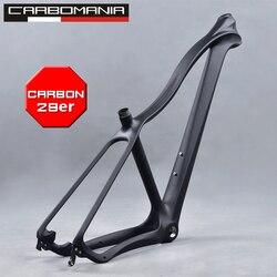 Karbon Bingkai MTB 29er Rangka Sepeda Jenis Cross Country Mountain Frame Sepeda Disc Brake Cocok untuk 135*9 Mm hub MTB Bingkai 29 Hard Ekor