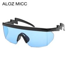 ALOZ MICC Classic Men Sunglasses Vintage Big Frame One Piece Lens Women Outdoor Windproof Goggles For Q691