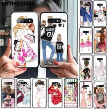 Phone Case Girl Super Mom Black TPU Soft Phone Cover for Samsung S9 plus S6 edge plus S7 edge S8 plus S10 plus(China)