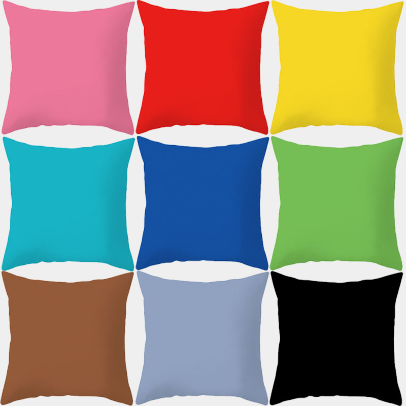 Solid Color Pillowcase 45x45 Cushion Cover Throw Pillow Covers Decorative Cushions Sofa Couch Gray Pink Blue Sofa Home Decor