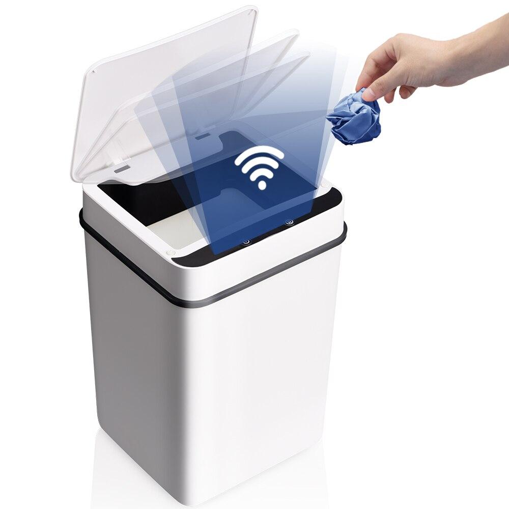 Intelligent Trash Can Automatic Sensor Dustbin Smart Sensor Electric Waste Bin Home Rubbish Can For Kitchen Bathroom Garbage