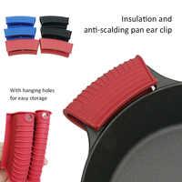 Guantes de silicona con Clip antiescaldado para horno, soporte para cuencos, olla de calor para sopa, utensilios de cocina con Clip fijo y grueso, venta al por mayor