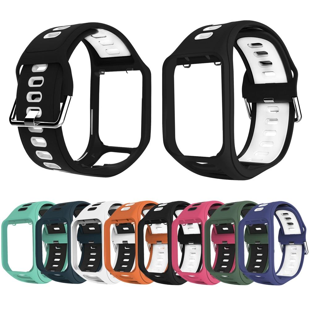 Wrist Band Strap For TomTom 2 3 Runner Spark Adventurer Golfer 2 Replacement Bracelet Soft Watchband Silicon Belt Watch Bracelet