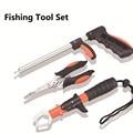 Stainless steel fishing gear set hook catcher gun type fishing lure controller fish grip decoupling device fishing pliers set