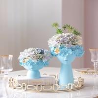 Hut Originality Resin Portrait Art Vase Ornament A Living Room Flower Arrangement Dried Flowers Suit Soft Installation Meter