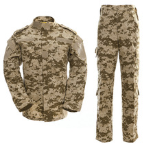 Soldier Uniform Jacket Military Shirt Camouflage 14-Color Training Male